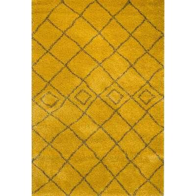 Teppich Royal Mustard/ Grey 200x290cm Teppiche - Dekoria.de