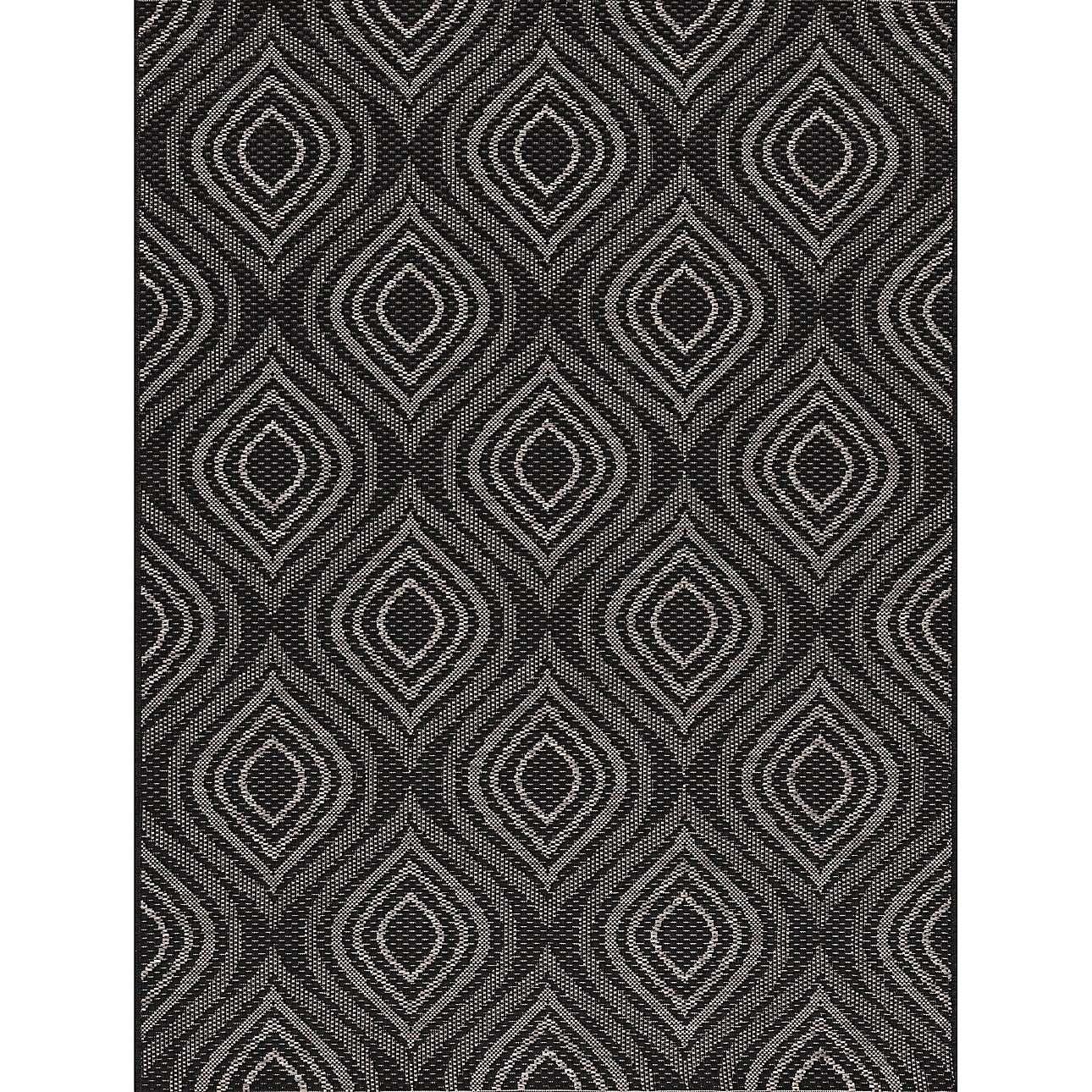 Koberec Breeze black/ clif grey 120 x 170 cm