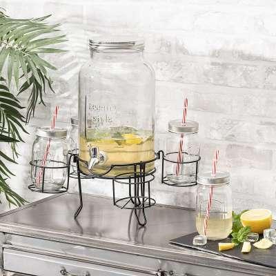 Getränkespender + Gläser Country Style Tee- & Kaffeekannen - Dekoria.de