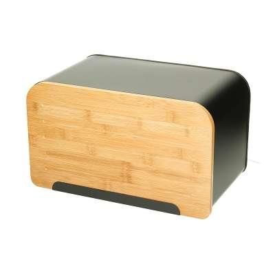 Chlebak na pieczywo Bamboo black