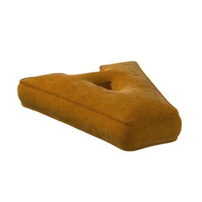 Letter pillow A 704-23 mustard Collection Posh Velvet