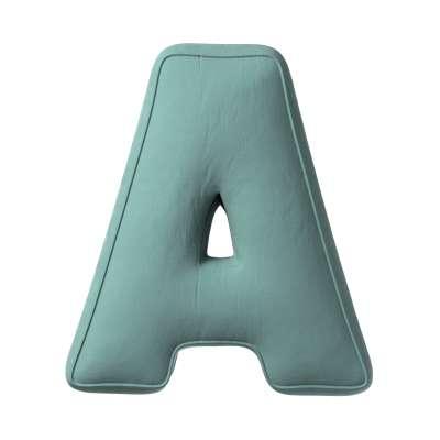 Buchstabenkissen A 704-18 mintgrün Kollektion Posh Velvet