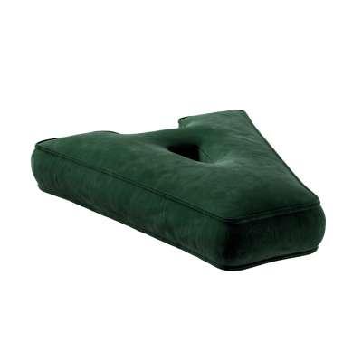 Polštář písmenko A 704-13 láhev zelená Kolekce Posh Velvet