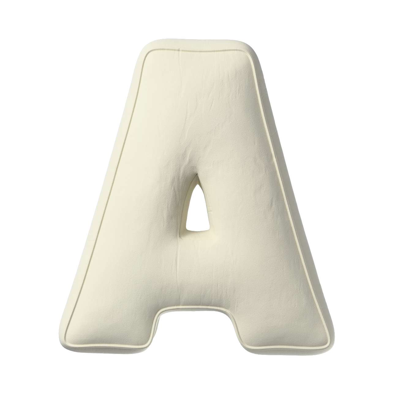 Buchstabenkissen A von der Kollektion Posh Velvet, Stoff: 704-10
