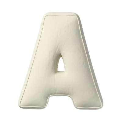 Buchstabenkissen A 704-10 altweiß Kollektion Posh Velvet
