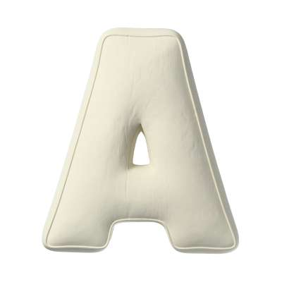 Poduszka literka A 704-10 śmietankowa biel Kolekcja Posh Velvet