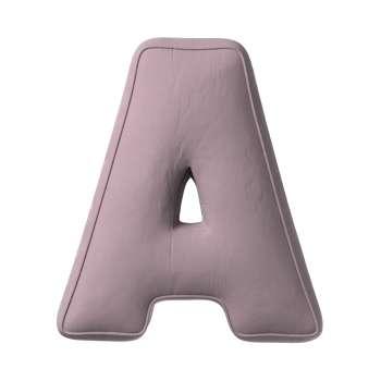 Poduszka literka A w kolekcji Posh Velvet, tkanina: 704-14