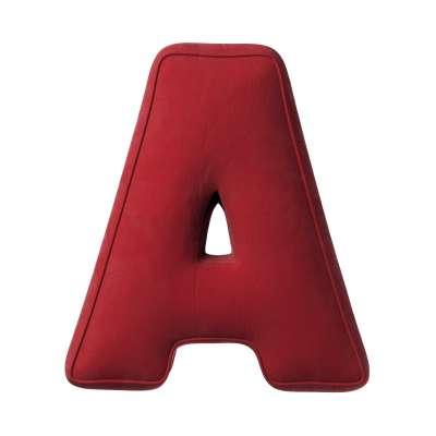 Polštář písmenko A 704-15 intenzivní červená Kolekce Posh Velvet