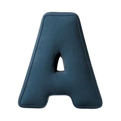 Poduszka literka A 704-16 pruski błękit Kolekcja Posh Velvet