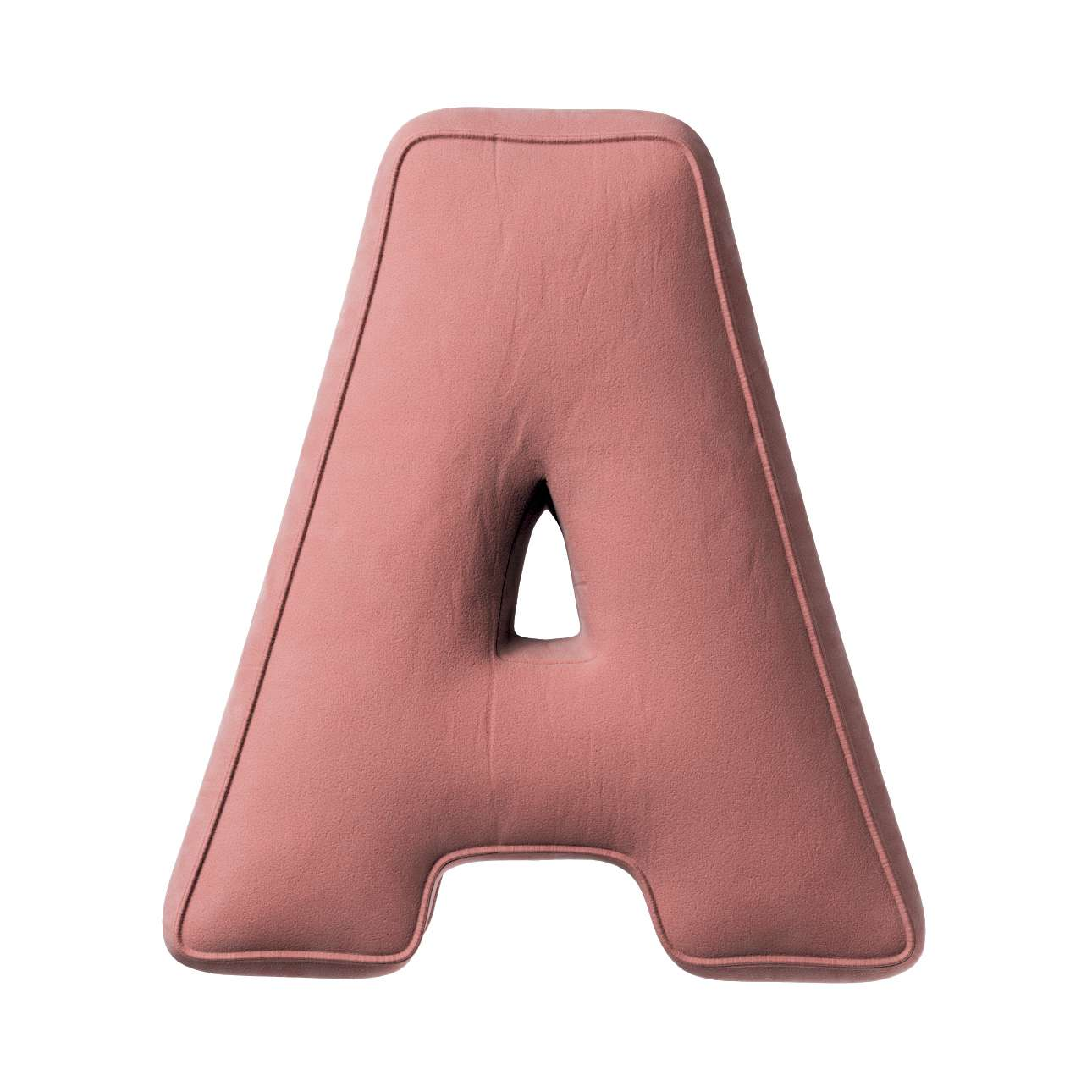 Poduszka literka A w kolekcji Posh Velvet, tkanina: 704-30