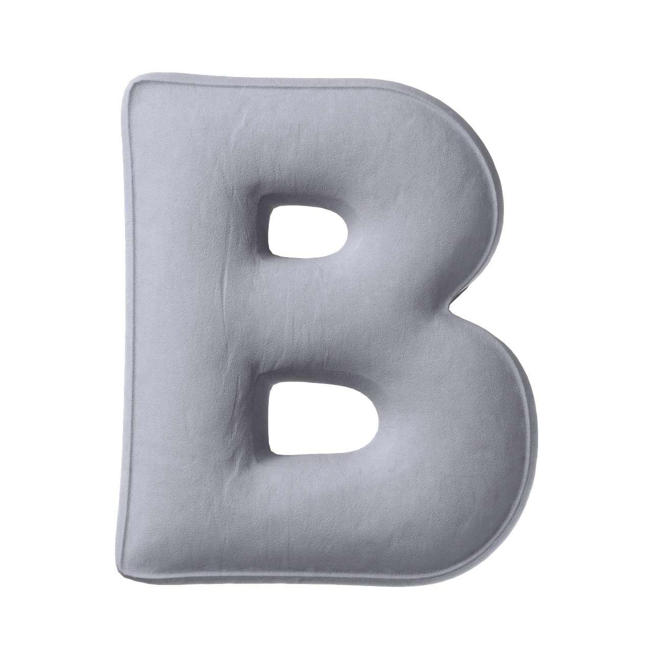 Buchstabenkissen B von der Kollektion Posh Velvet, Stoff: 704-24