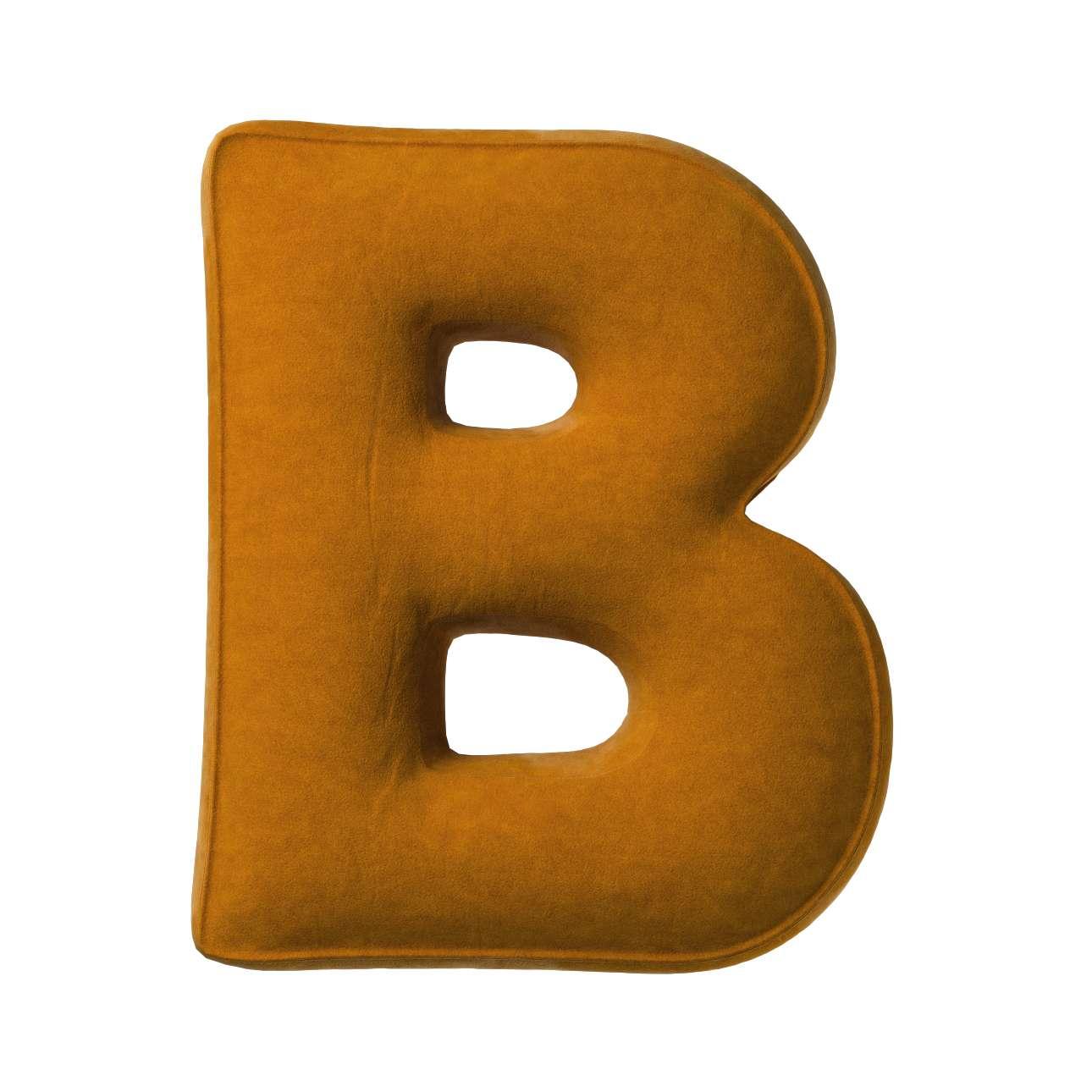 Buchstabenkissen B von der Kollektion Posh Velvet, Stoff: 704-23