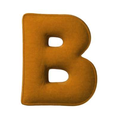 Letter pillow B 704-23 mustard Collection Posh Velvet