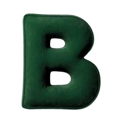 Buchstabenkissen B von der Kollektion Posh Velvet, Stoff: 704-13