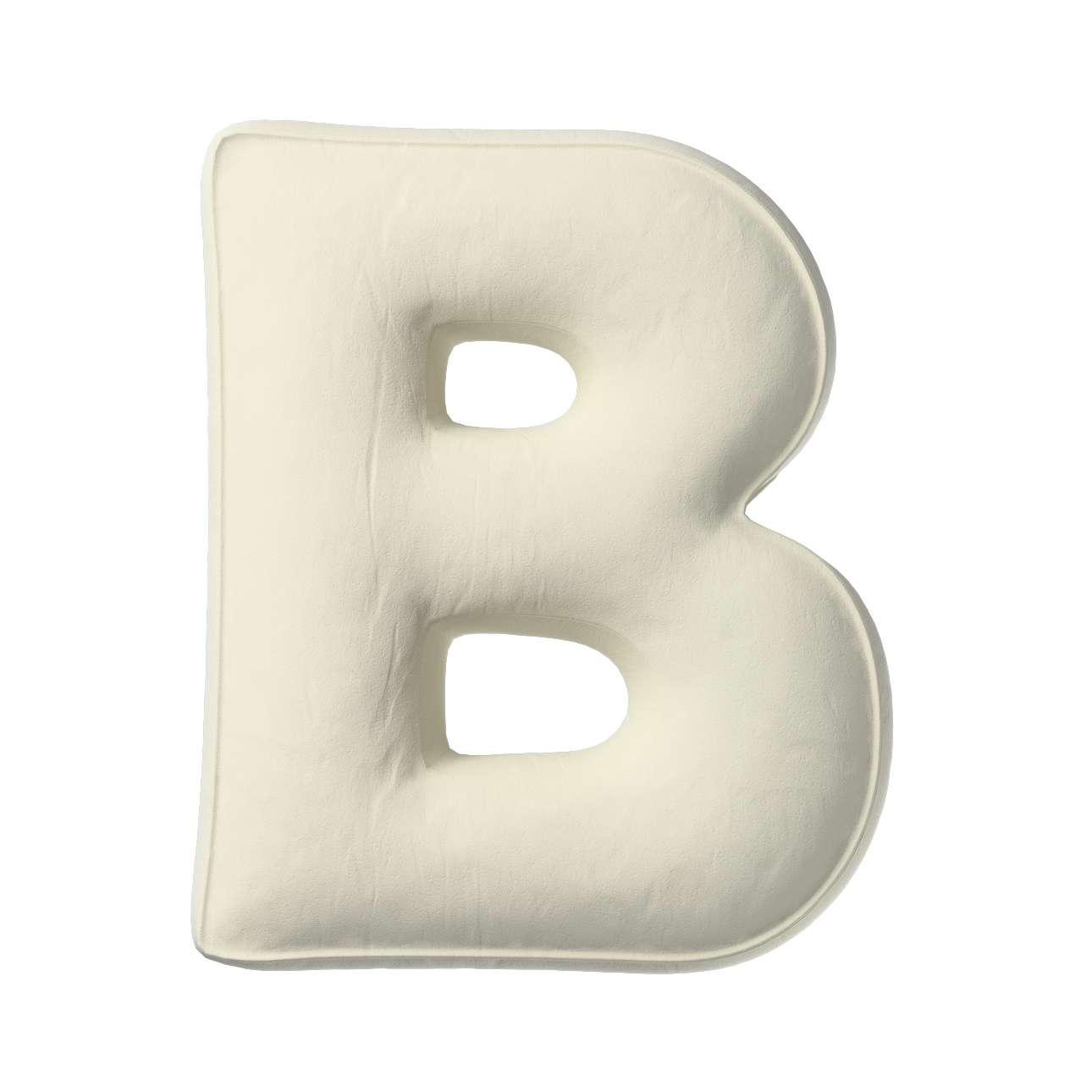Buchstabenkissen B von der Kollektion Posh Velvet, Stoff: 704-10