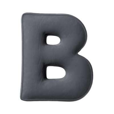 Polštář písmenko B v kolekci Posh Velvet, látka: 704-12