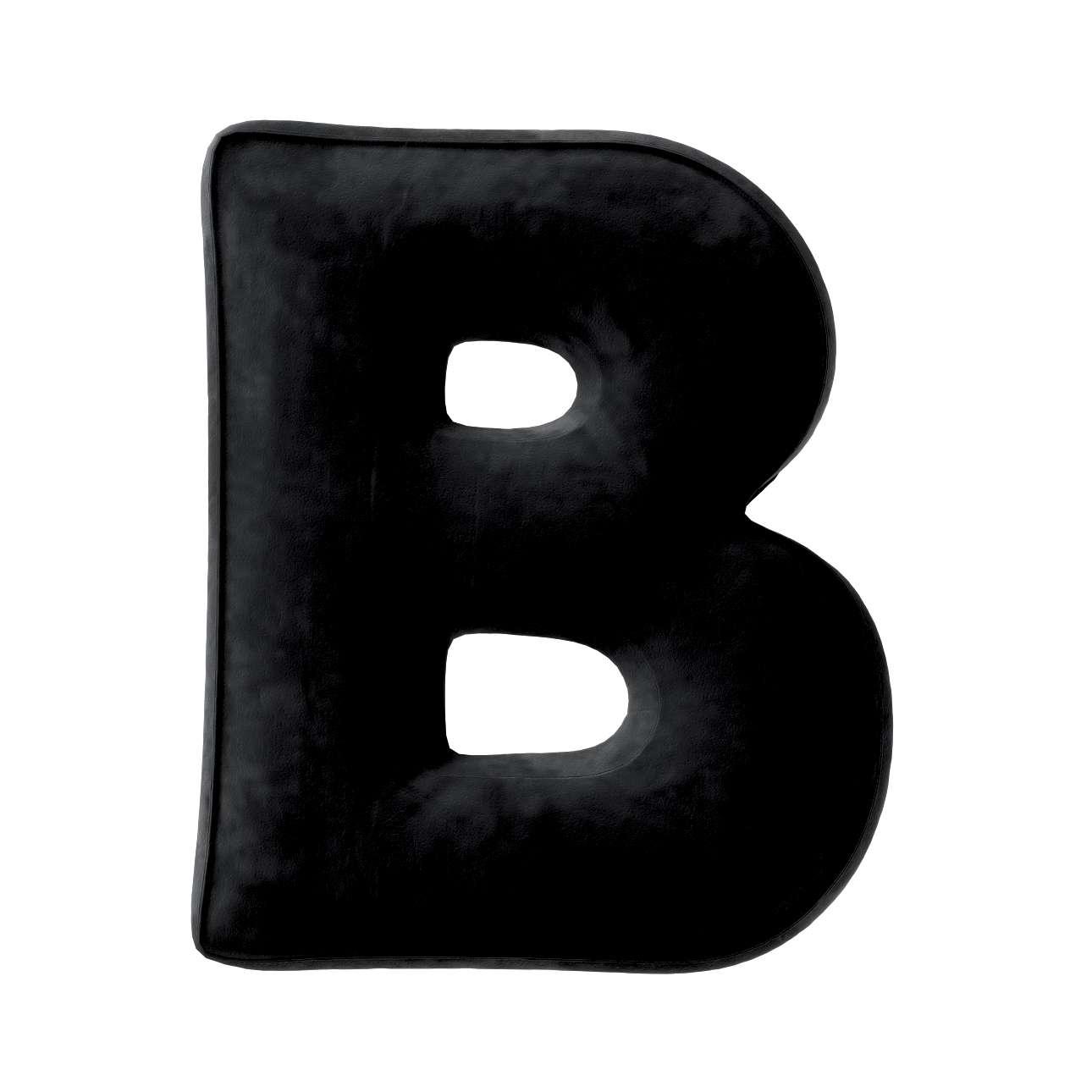 Buchstabenkissen B von der Kollektion Posh Velvet, Stoff: 704-17