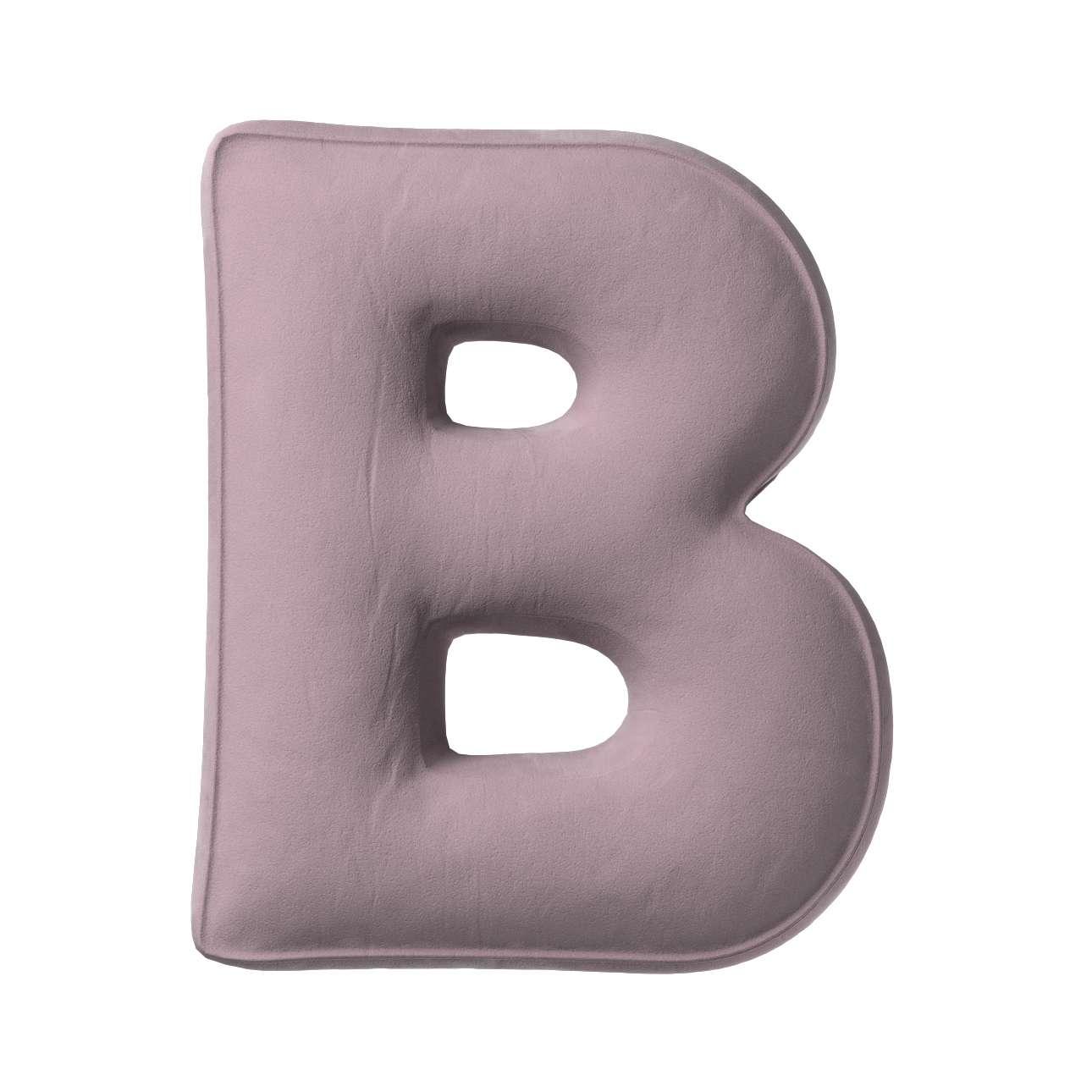 Buchstabenkissen B von der Kollektion Posh Velvet, Stoff: 704-14