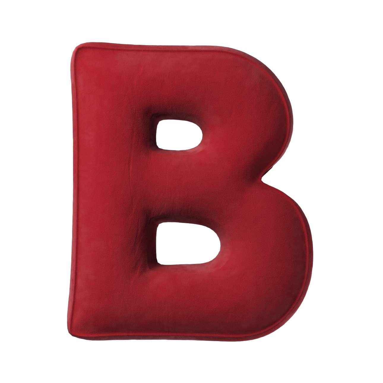 Buchstabenkissen B von der Kollektion Posh Velvet, Stoff: 704-15