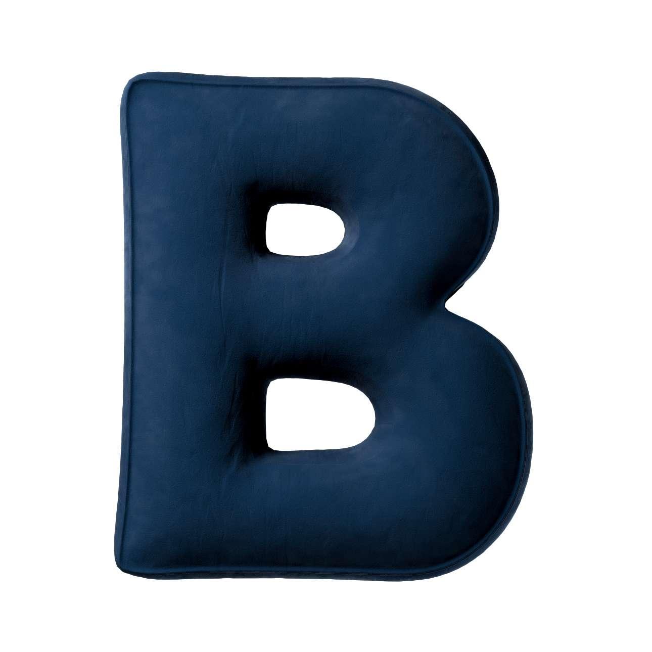 Buchstabenkissen B von der Kollektion Posh Velvet, Stoff: 704-29
