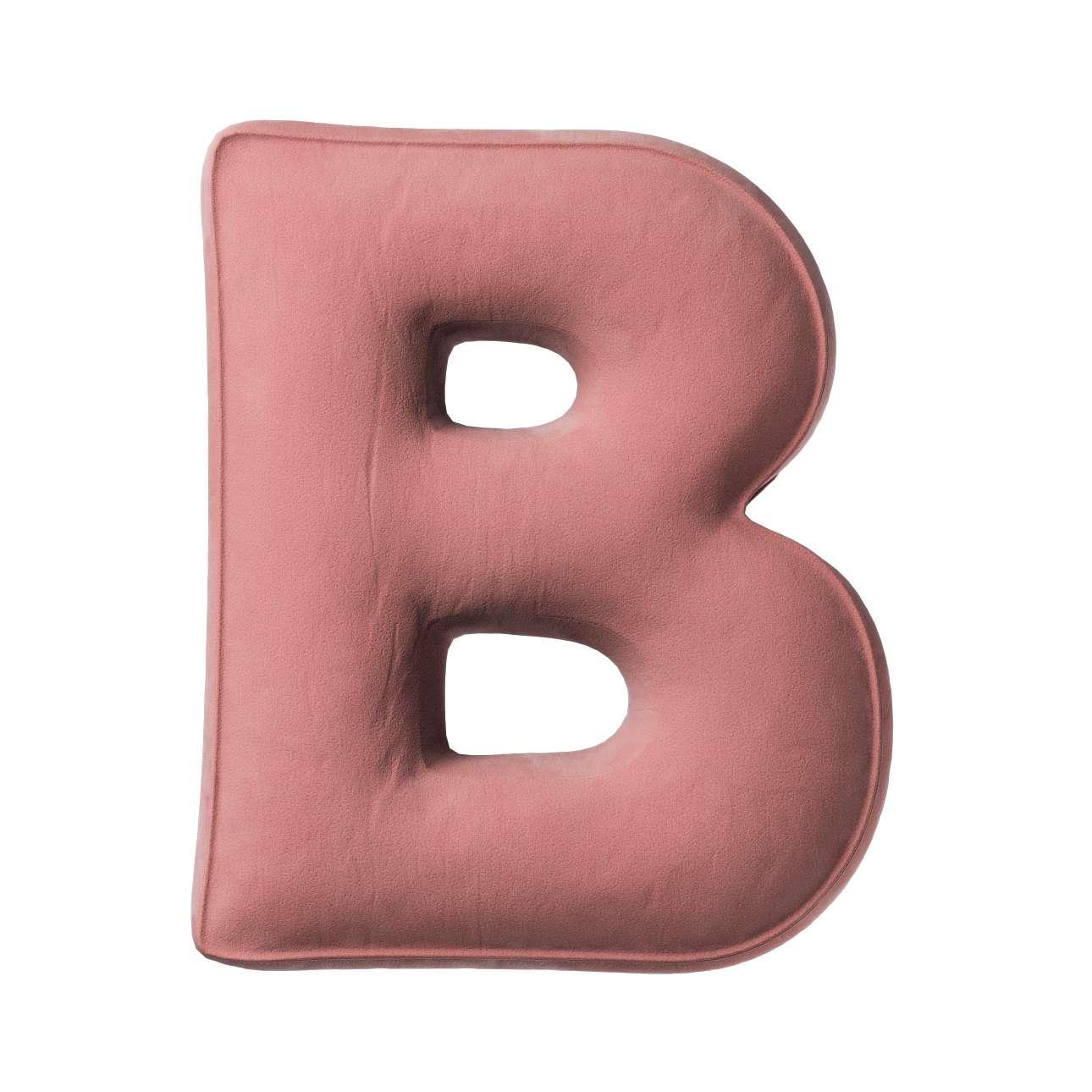 Buchstabenkissen B von der Kollektion Posh Velvet, Stoff: 704-30