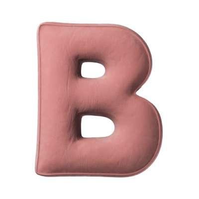 Polštář písmenko B v kolekci Posh Velvet, látka: 704-30