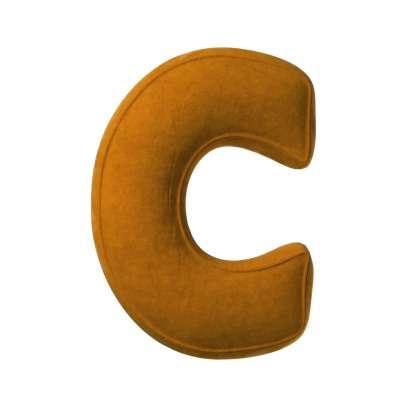 Buchstabenkissen C von der Kollektion Posh Velvet, Stoff: 704-23