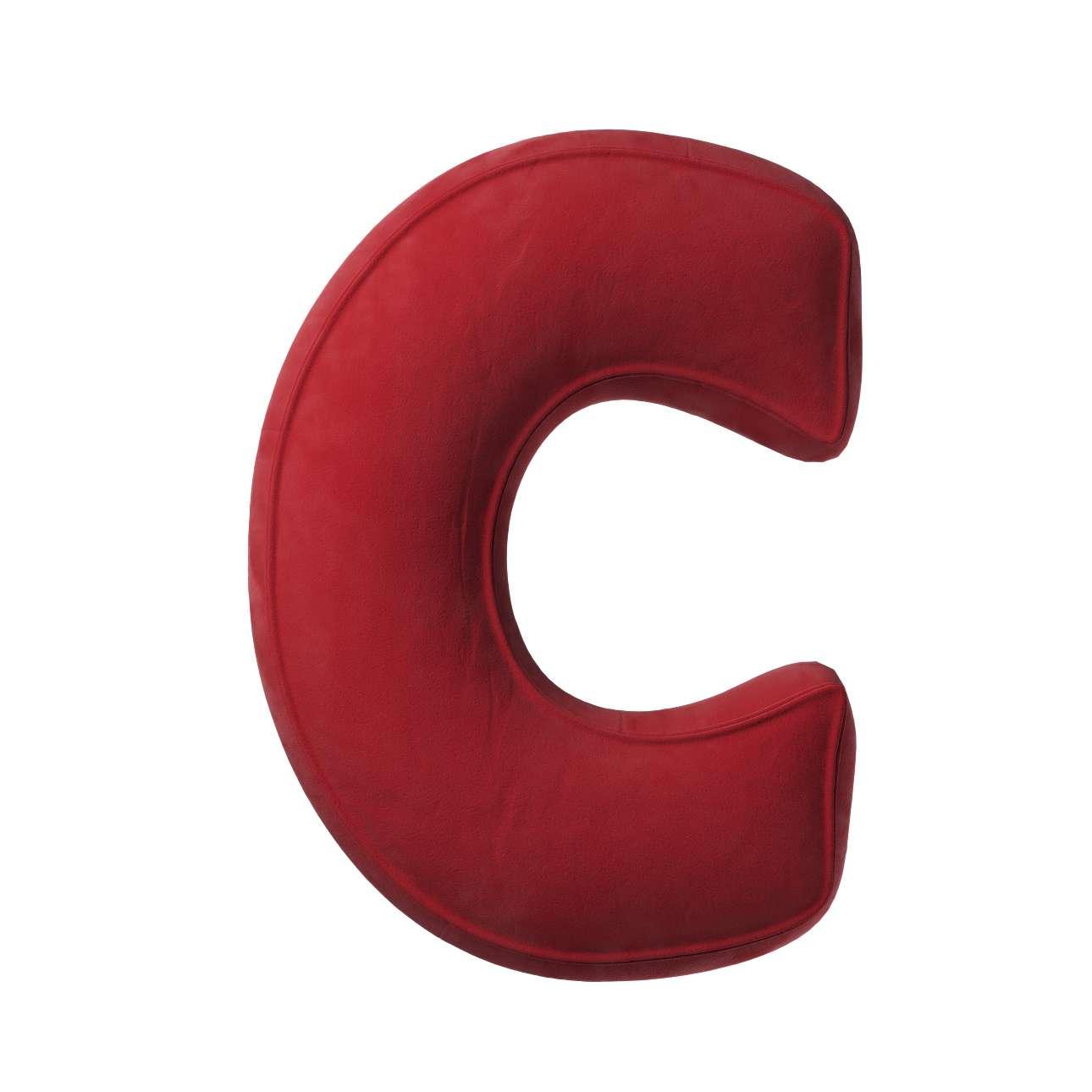 Buchstabenkissen C von der Kollektion Posh Velvet, Stoff: 704-15
