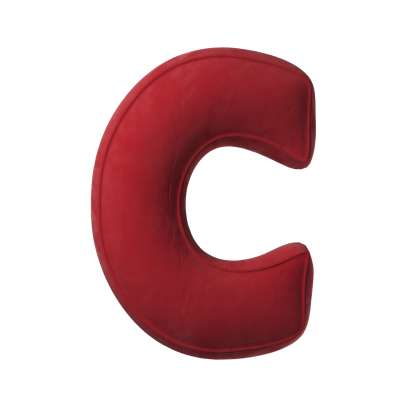 Raidė pagalvėlė C kolekcijoje Posh Velvet, audinys: 704-15