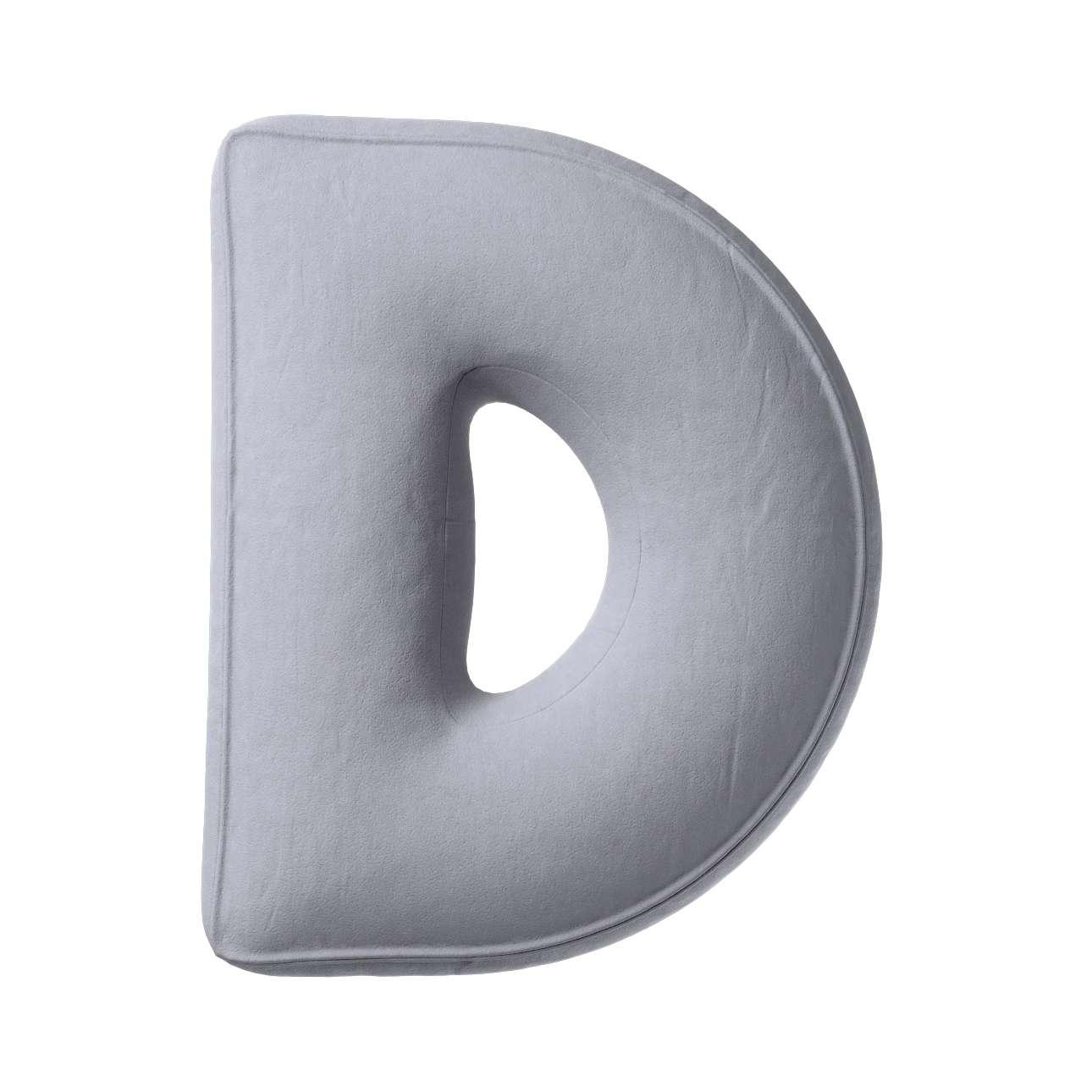 Polštář písmenko D v kolekci Posh Velvet, látka: 704-24