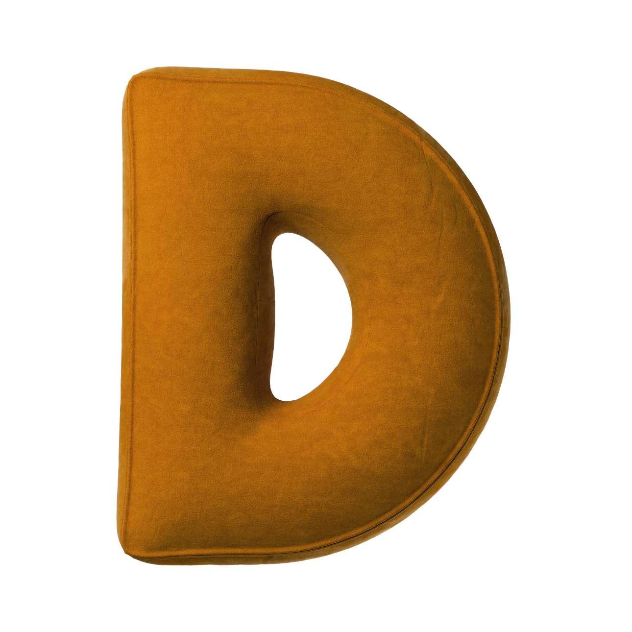 Buchstabenkissen D von der Kollektion Posh Velvet, Stoff: 704-23