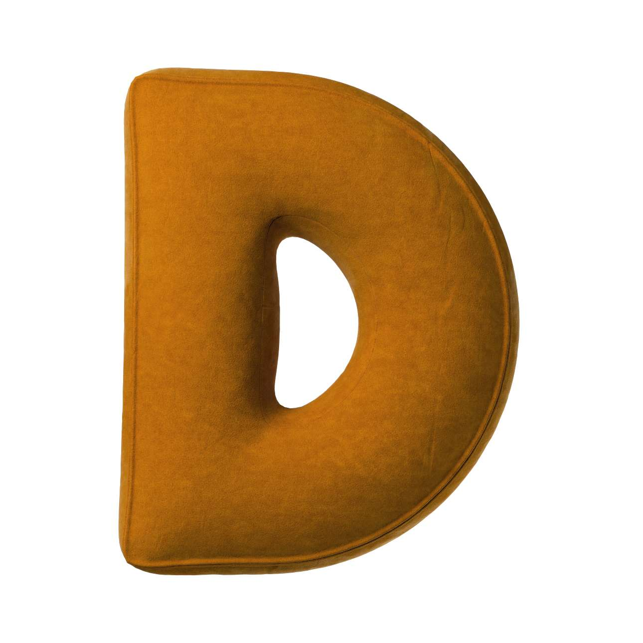 Polštář písmenko D v kolekci Posh Velvet, látka: 704-23