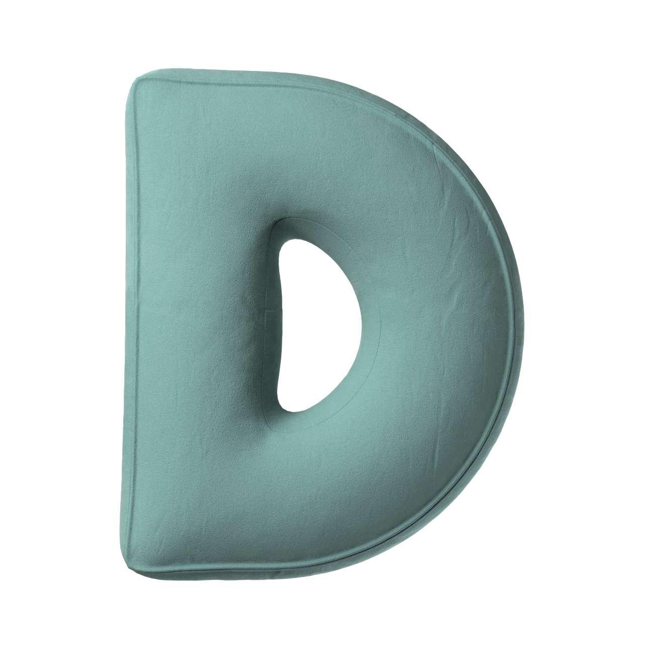Raidė pagalvėlė D kolekcijoje Posh Velvet, audinys: 704-18