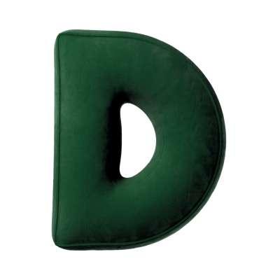 Buchstabenkissen D von der Kollektion Posh Velvet, Stoff: 704-13