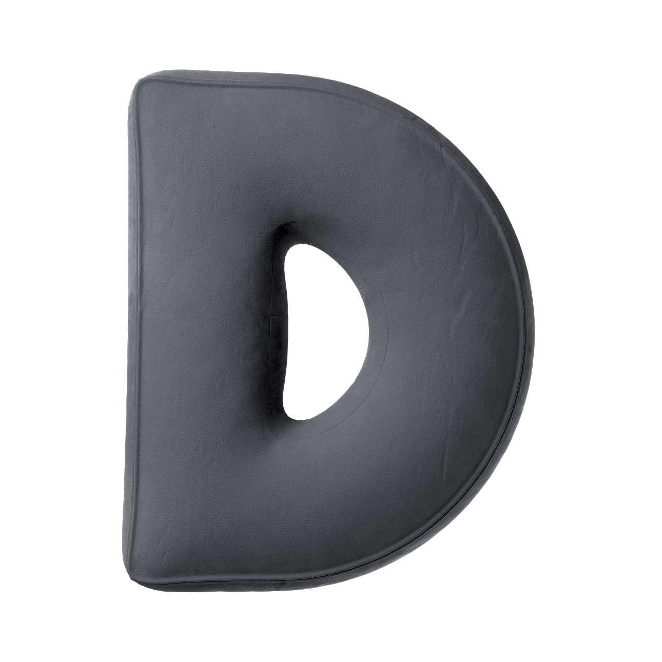 Buchstabenkissen D von der Kollektion Posh Velvet, Stoff: 704-12