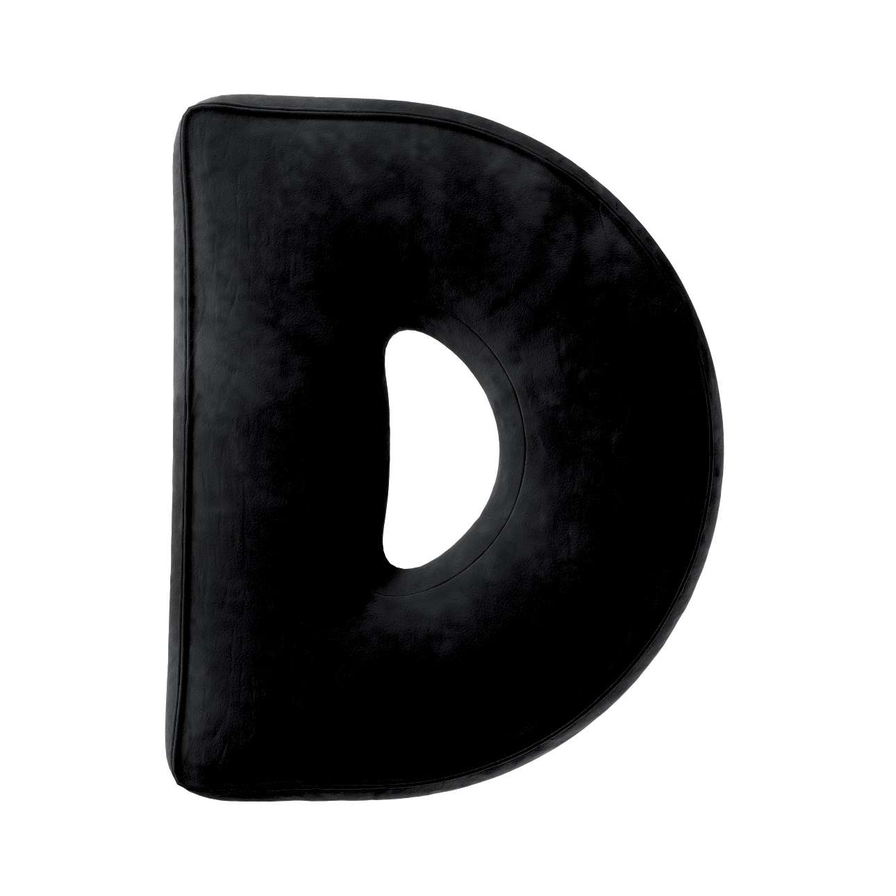 Buchstabenkissen D von der Kollektion Posh Velvet, Stoff: 704-17