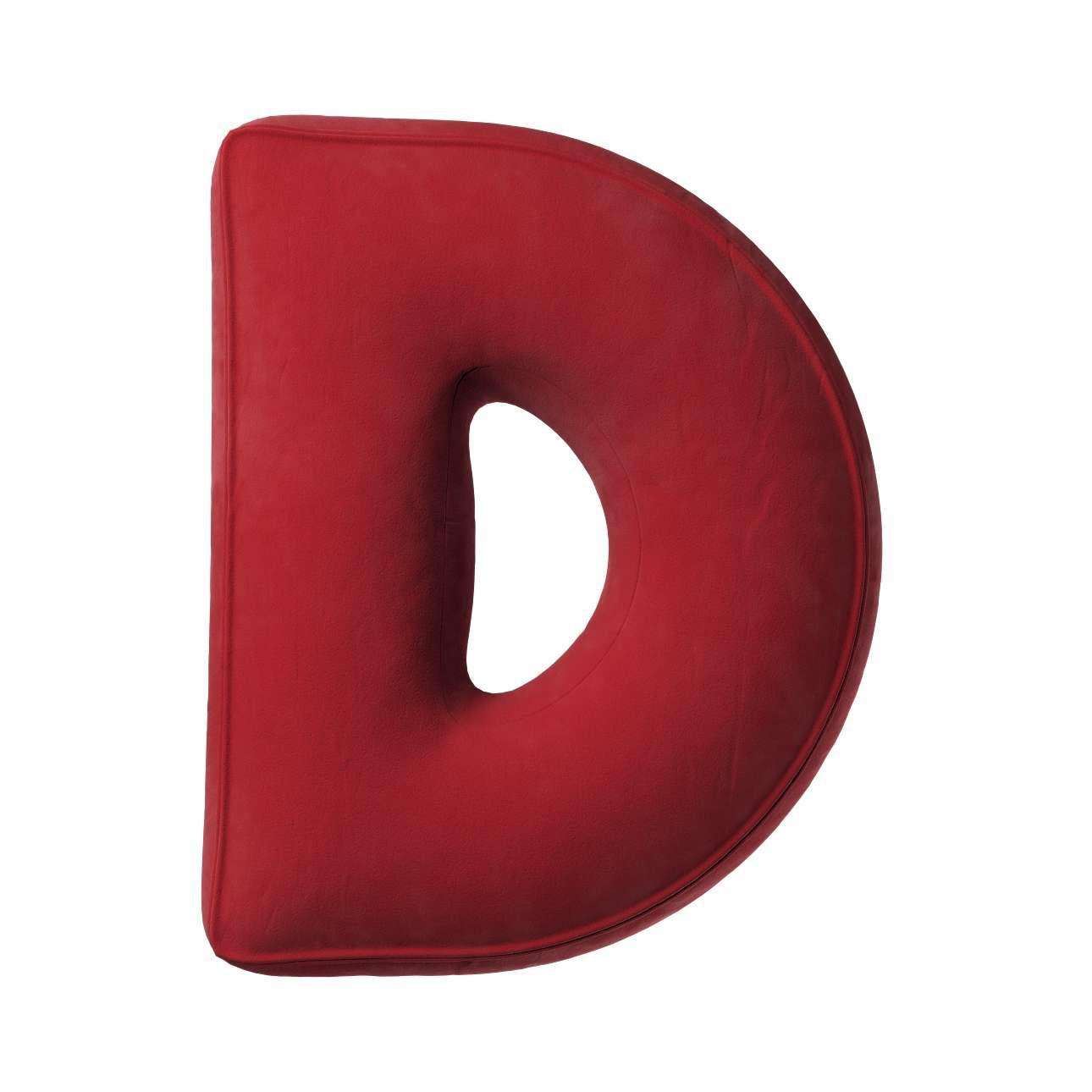 Buchstabenkissen D von der Kollektion Posh Velvet, Stoff: 704-15