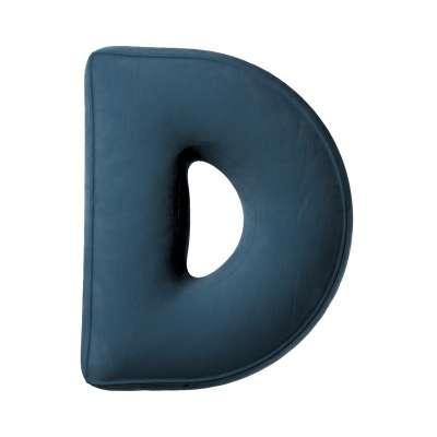 Raidė pagalvėlė D kolekcijoje Posh Velvet, audinys: 704-16