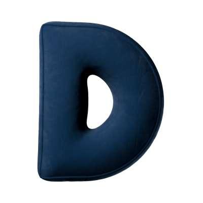 Buchstabenkissen D von der Kollektion Posh Velvet, Stoff: 704-29