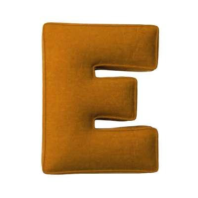 Letter pillow E 704-23 mustard Collection Posh Velvet