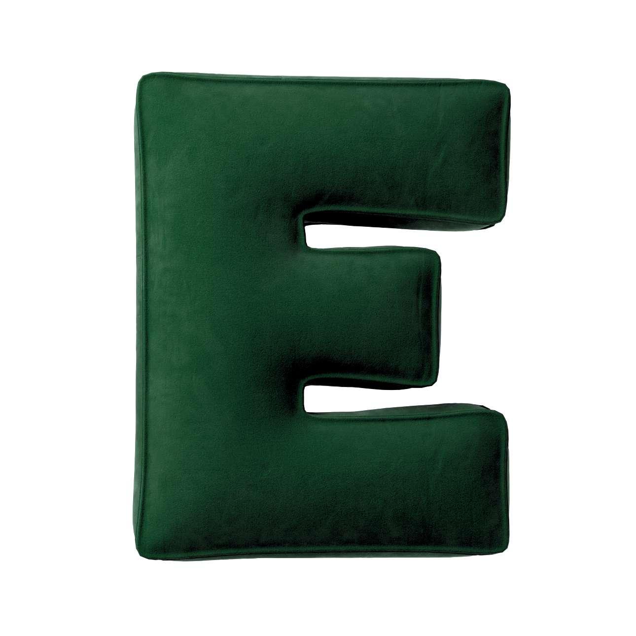 Buchstabenkissen E von der Kollektion Posh Velvet, Stoff: 704-13
