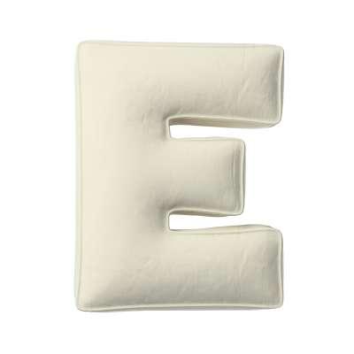 Raidė pagalvėlė E 704-10 kreminė balta Kolekcija Posh Velvet
