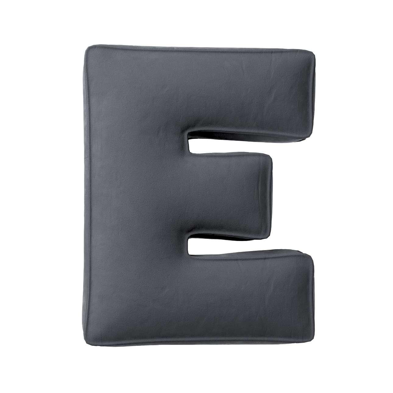 Buchstabenkissen E von der Kollektion Posh Velvet, Stoff: 704-12
