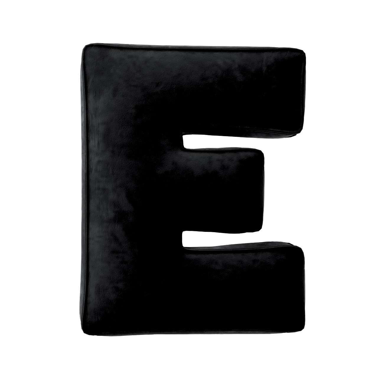 Buchstabenkissen E von der Kollektion Posh Velvet, Stoff: 704-17