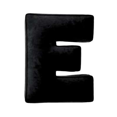 Raidė pagalvėlė E 704-17 juoda Kolekcija Posh Velvet