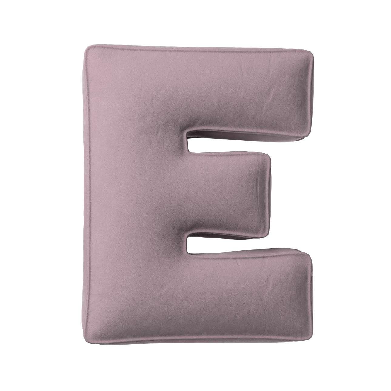 Buchstabenkissen E von der Kollektion Posh Velvet, Stoff: 704-14