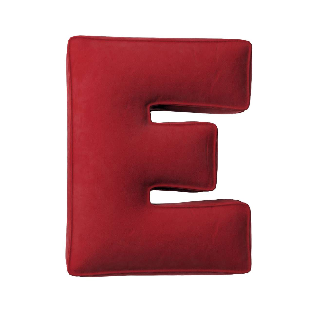 Buchstabenkissen E von der Kollektion Posh Velvet, Stoff: 704-15