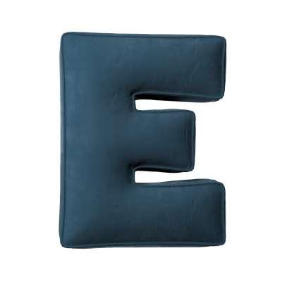 Raidė pagalvėlė E 704-16 tamsi mėlyna Kolekcija Posh Velvet