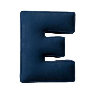 Buchstabenkissen E von der Kollektion Posh Velvet, Stoff: 704-29
