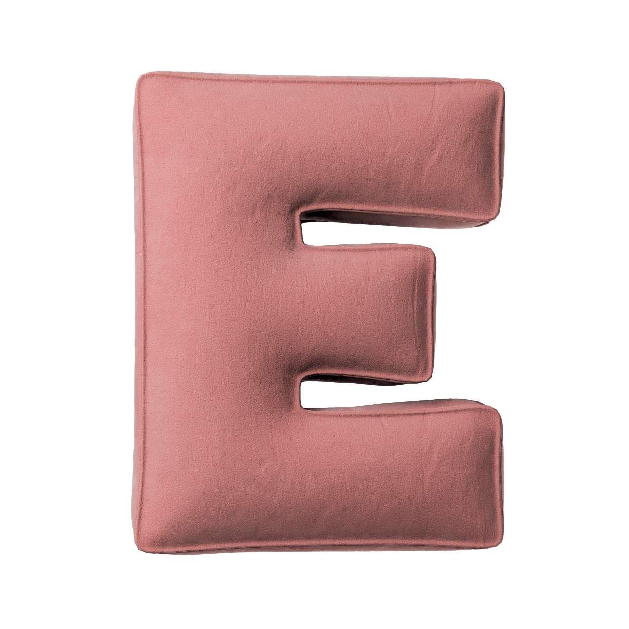 Raidė pagalvėlė E kolekcijoje Posh Velvet, audinys: 704-30
